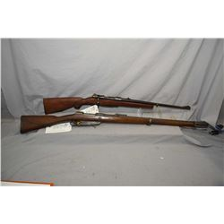 Lot of Two Firearms : Commission Rifle ( Danzig Dated 1890 ) Model Gew 1888 . 8 MM Mauser Cal Full W