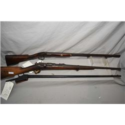 Lot of Three Antique Firearms : French Service Model 1871 Dated 1877 .43 Mauser Cal ? Sporterized Bo