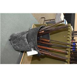 Black Rubber Maid Tub Lot : Seven Single Barrel Shotguns [ some missing forends ] Three Rifles [ mis