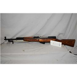 "Soviet SKS 7.62 X 39 cal. semi-automatic rifle w/ 20 1/2"" bbl. [laminated wooden stock, blued barrel"