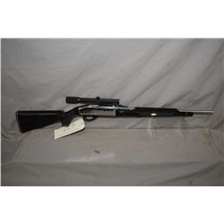 "Remington Nylon 66, .22 LR tube fed semi-automatic rifle w/19 1/2"" bbl. [ black and chrome, missing"
