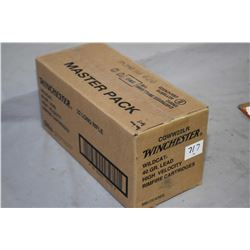 Factory sealed case of Winchester WildCat .22 LR ammunition, 40 grain, Stock No. CQWW22LR, 5000 roun