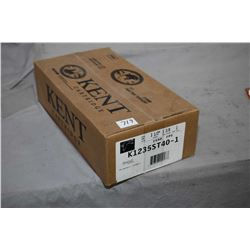 "Factory sealed case of Kent Cartridge Fasteel 12 gauge 3 1/2"" 1 3/8 oz. shot size 1 ammunition. Stoc"