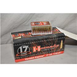 Factory sealed box of Hornady .17HMR Varmint Express, 17 grain V-Max ammunition, 10 boxes of 50 aka