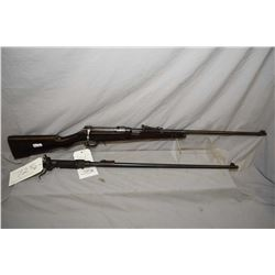 "Ross Mk II .303 Brit, bolt action mag fed rifle w/ 28"" bbl. [ blued finish turned mostly grey, eleva"