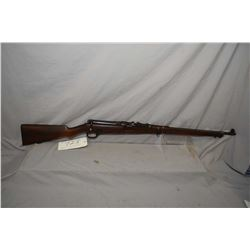 "Ross Mk I .303 Brit mag fed bolt action rifle w/ 28"" bbl. [ blued finish turning mostly grey, elevat"