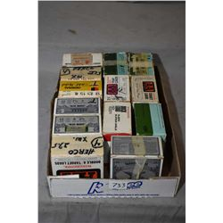 Thirteen boxes of 12 gauge shot gun ammunition, all but one are full, one with 15 rounds, assorted b