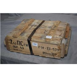 Factory sealed case lot of 7.62 X 39 ammunition, 1320 count