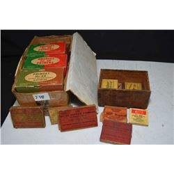 Selection of vintage primers including two full boxes CIL No. 4B and one 3/4 full box, eleven flats