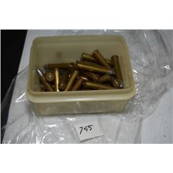 Plastic container of approximately 30 count 30-30 reloads
