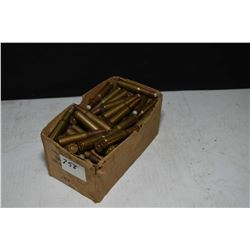 Box of approximately 100 rounds of mostly 300 and 303 Savage ammunition