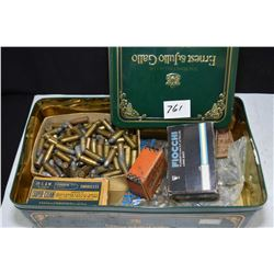 Selection of miscellaneous ammunition including a box of Fiocchi Flobert 9mm rimfire with 25 rounds,