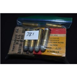 Selection of .577 cal ammunition including a ten count box of Kynoch containing five rounds, a facto