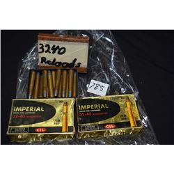 Three boxes of .32-.40 Winchester including two boxes of twenty count Imperial, both full plus appro