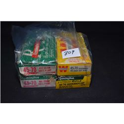 Four boxes of 45-70 Government cal ammunition including a full 20 count Remington Express rifle and