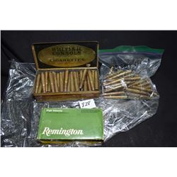Selection of 32 Winchester Special ammunition including a full 20 count Remington box, metal cigaret