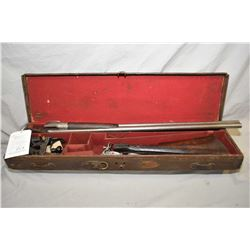 "Cased G.J. Lewis Model Trebel Choke Bore .12 Ga Side by Side Hammer Shotgun w/ 30 "" bbls Marked Hono"