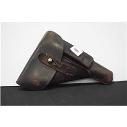 Vintage leather flap holster with mag pouch