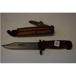 AK bayonet with scabbard