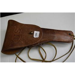 Vintage Boyt .42 leather flap holster marked US