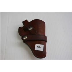Vintage small leather revolver holster made by Hunters
