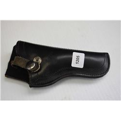 Small black leather revolver holster marked 003-78 made in Mexico