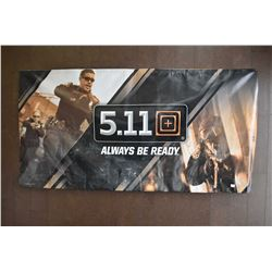 Double sided 5.11 Tactical promotional banner
