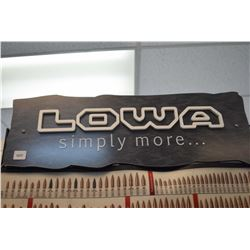 LOWA promotional plaque
