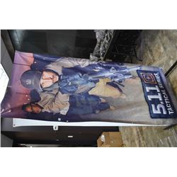 Single sided 5.11 Tactical promotional banner