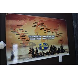 Mossberg Worldwide Military Contracts promotional maps