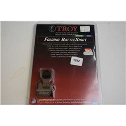 New in package Troy Battle Ready series folding battle sight-green
