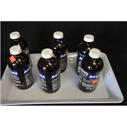 Six 500 ml bottles of Accubore gun cleaner