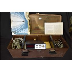 Shooter's accessory box containing Oehler research model 33 chronotach, untested