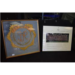Two framed military pictures including Canadian Landforce Command and Staff College 1988