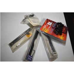 New in package scope accessories including three B-Square bases, two pairs of B-Square risers and a