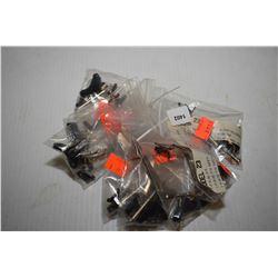 Nine Glock model 23 trigger kits including firing pin, firing pin safety, firing pin safety spring,