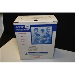 New in box Delta Racal N95 disposable respirators, 20 count