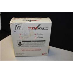 Box of Delta Medium sized N95 respirators, 10 count