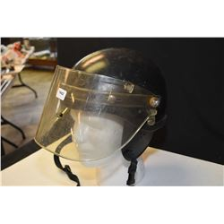 Vintage riot helmet with shield
