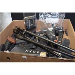 Large selection of used firearms parts and accessories including stocks, barrels, forends etc.
