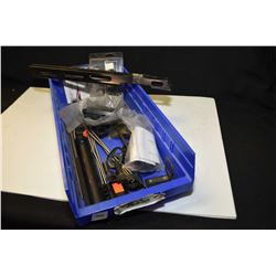 Selection of firearms accessories including rods, gas block, buffer tube, gas tubes, etc.