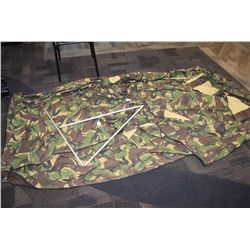Camouflage tent Camouflage tent, as is, no poles