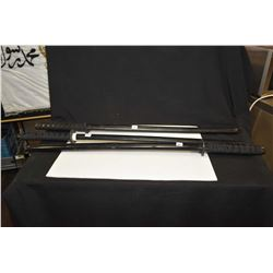 Three Japanese practice swords