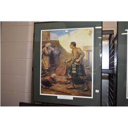 Framed print titled Drummer Roddick at Afghanistan