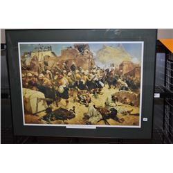 "Framed print ""92nd Highlanders at the battle of Kandahar"""