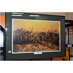 "Framed print titled ""The battle of Abuklea"""