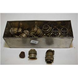 Selection of military surplus electrical connectors