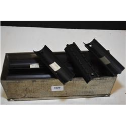 Small metal box with large selection of rail sections