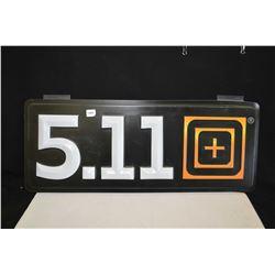 Plastic 5.11 Tactical retail sign