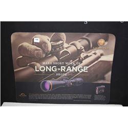 """Leupold """"Make Short Work of Long Range Shots' counter top protector"""